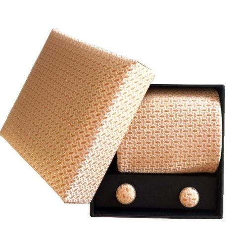 Box med slips set guldgul