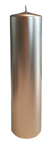 Blockljus - guldsilver Metallic - Ø7x30cm