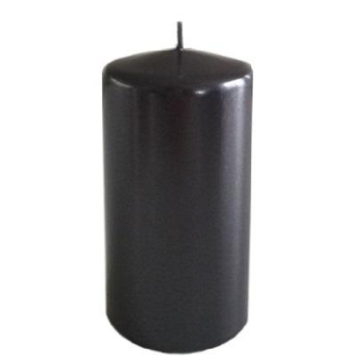 Vio Blockljus - Titan Metallic - Ø6x12cm