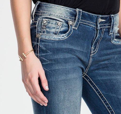 Miss Me - Narrow Escape Mid-rise ankle Skinny Jeans