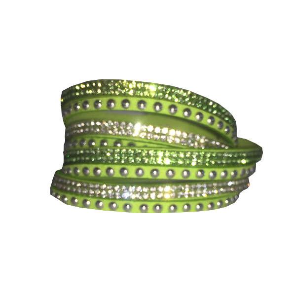 Armband - Limegrön med strass och stenar
