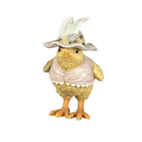 Påskkyckling Flicka med hatt och väst