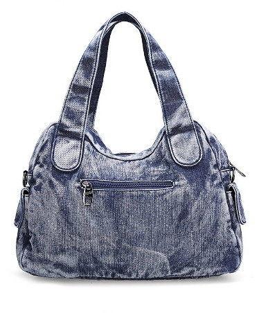 Denim väska i svart eller blått