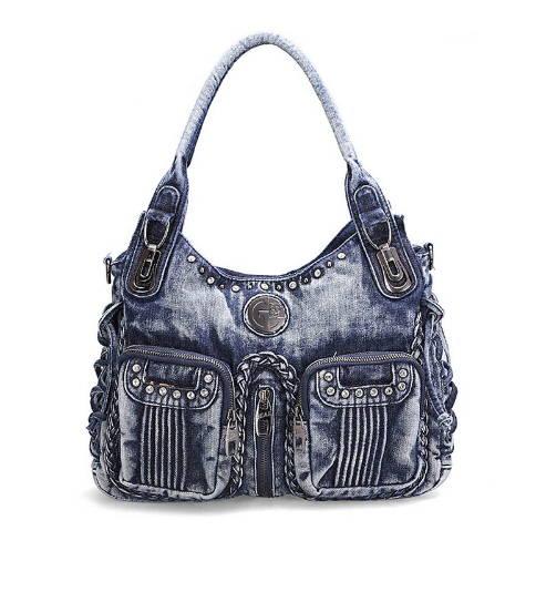 Denim väska -blå med två fickor