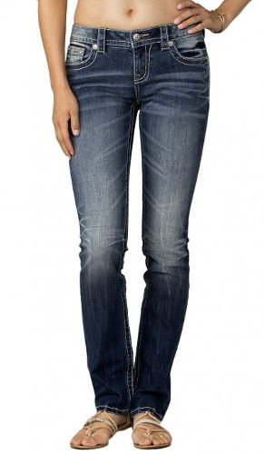 Miss Me - Mid Rise Medium Wash Straight Denim