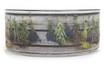 tygband med lavendelmotiv i form av knippen på rad. mycket fint