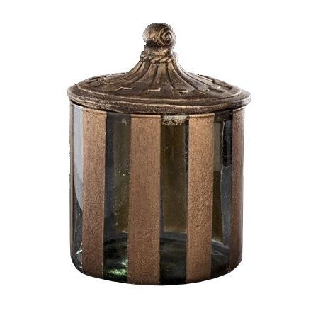 Glasburk med lock - antik stil