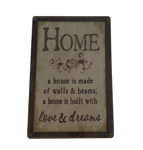 Metallskylt - Home