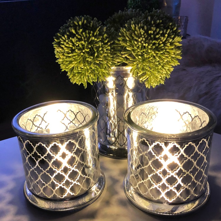 Ljuskopp silver