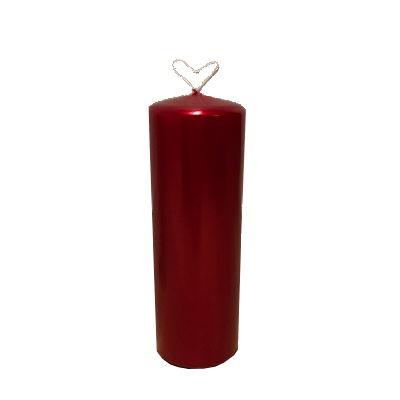 Vio - Blockljus - Röd Metallic - Ø7x20cm