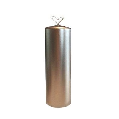 Vio - Blockljus - Guldsilver Metallic - Ø7x20cm
