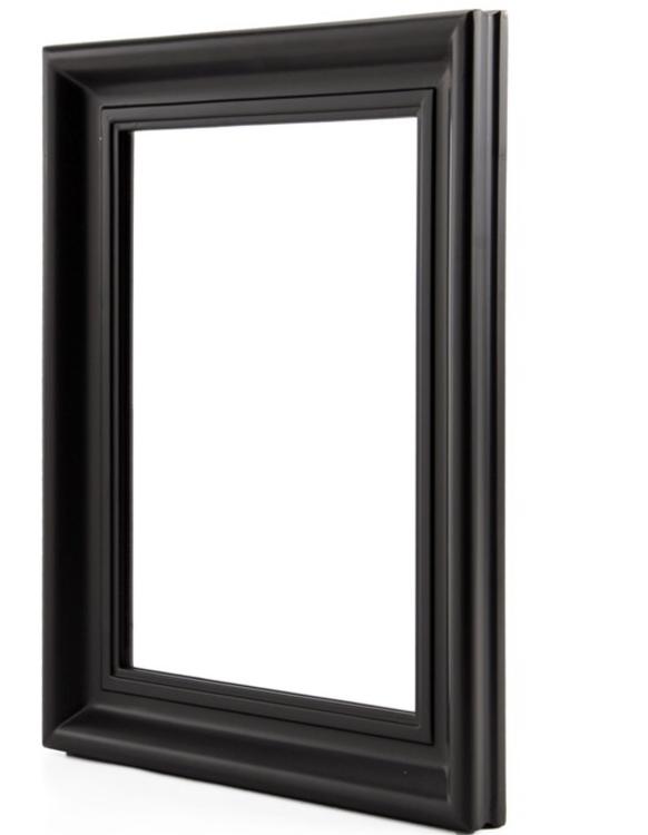 Svart spegel 40 x 50 cm