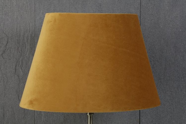 Lampskärm gul sammet