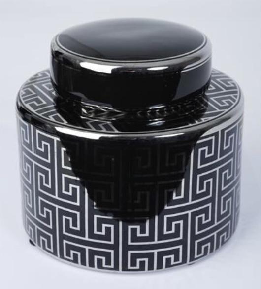 Burk med trendigt mönster svart/silver