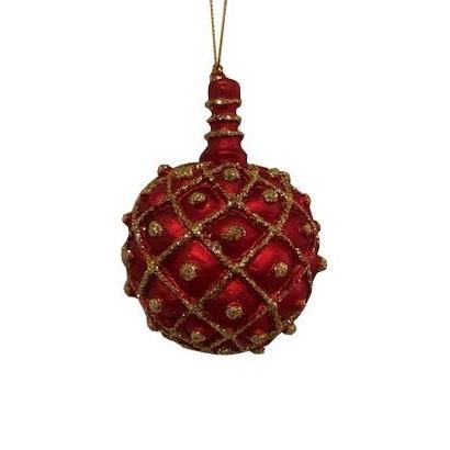 julgranskula röd och guld i gammal stil