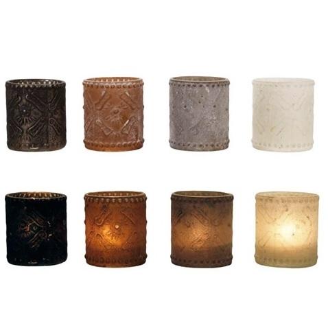 Ljuslykta ANGKOR 4 olika färger - Svart, Beige, Vit, Brun,