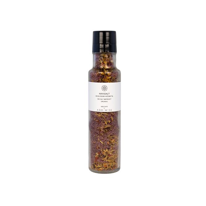 Läckert havssalt med smak av paparika från ADD:WISE.   Ingredienser: salt, paprika, hampaolja, chili, chiafrön, dill Ekologisk råvara