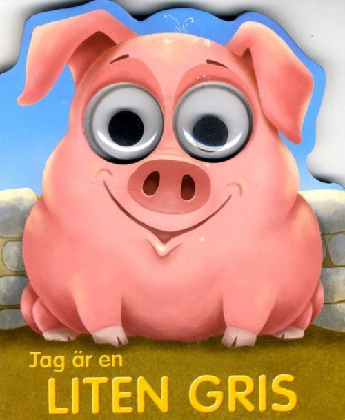 Jag är en liten Gris är en söt pekbok & grisens stora snälla ögon följer glatt barnen när de läser om honom.