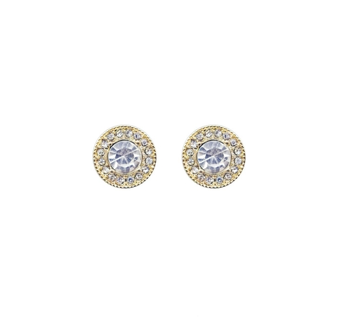 Vackra glittriga örhänge fån Pipol´s Bazaar med små glaskristaller. Örhängena är nickelfria & allergitestade. Mått: 1cm   Färg: Guld