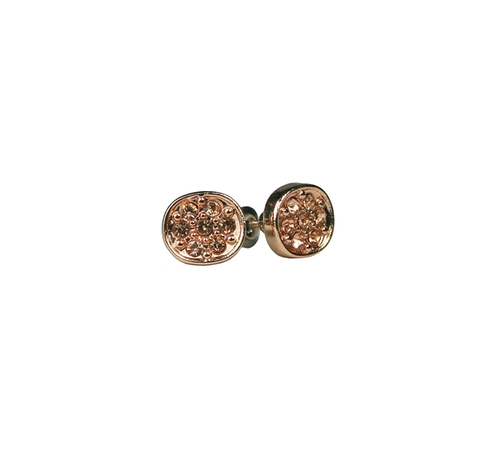 Små söta örhänge från Pipol´s Bazaar med små glaskristaller. Örhänget är nickelfritt & allergitestat. Mått: 1 cm   Färg: Roséguld