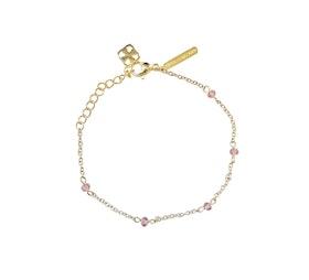Pipol´s Bazaar Straccia  Vinröd Armband