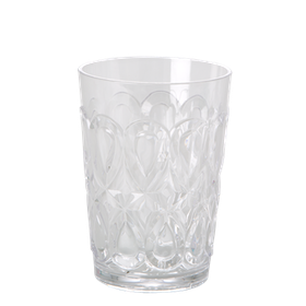Rice Tumbler Glas Swirly Clear