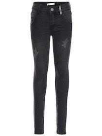 Name it Kids Mörkgrå Skinny Jeans