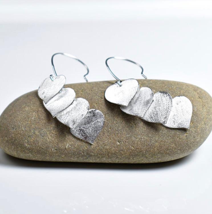 Unika handgjorda örhängen från Pold Design i 925 Sterling Silver