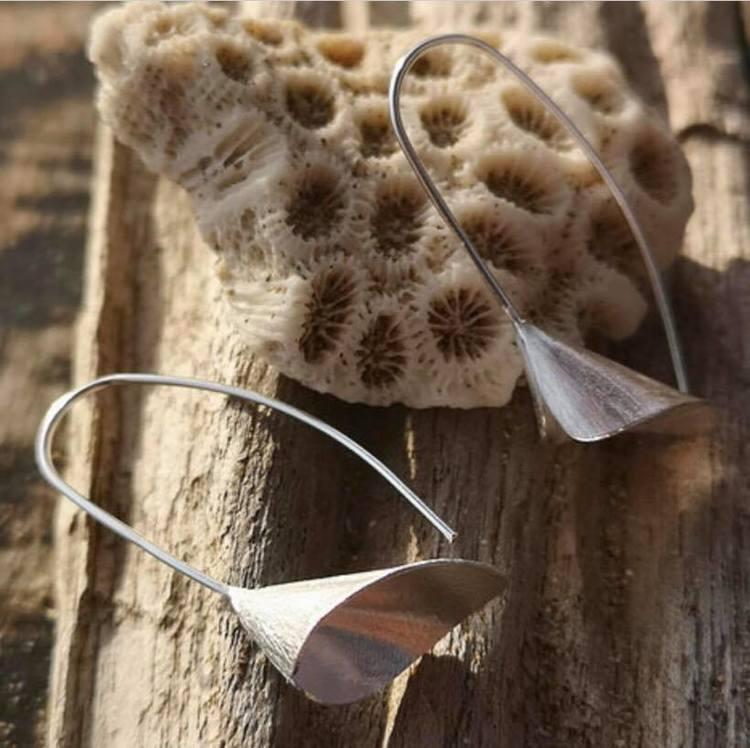 Unika handgjorda örhängen från Pold Design i 925 Sterling silver.