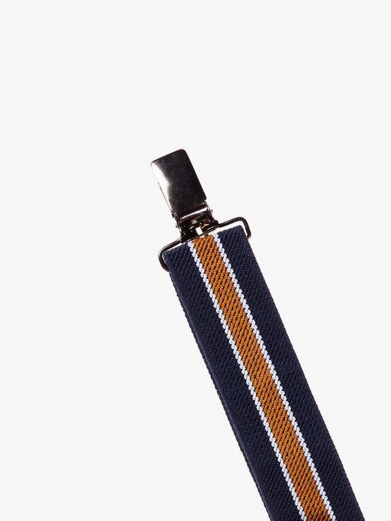 Resårhängslen med metallklämmor från Name it med justerbara stroppar. Bredd: 2,5cm Material: 80% Polyester & 20% Elastodien   Färg: Marinblå & Randig