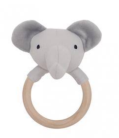 Jabadabado Elefant-Skallra Med Träring