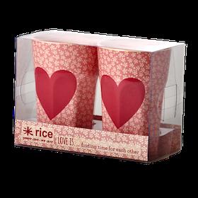 Rice 2-Pack Lattemuggar Med Hjärta