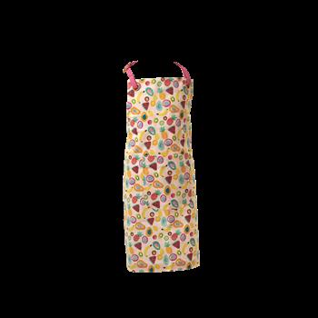 Sätt på dig detta lekfulla förkläde från Rice & köksbestyren blir så mycket roligare. Matcha det tillsammans med ditt barn Mått: 85x68 cm Material: 100% Bomull  Färg: Tutti Frutti