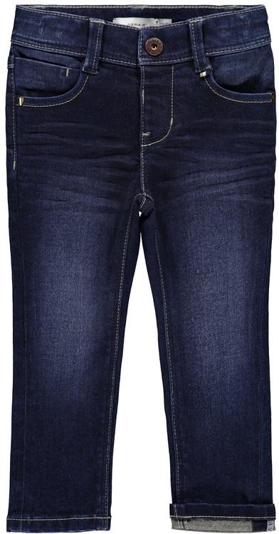 THEO är en skön jeans med stretch från Name it med justerbar midja, smidig tryckknappsstängning, praktiska fickor & bälteshällor i midjan. Höfter: X-slim fit - Ben: X-slim fit Material: 73% Bomull, 25