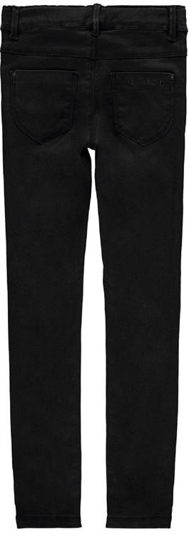 Mjuka och stretchiga jeansleggings från Name it med justerbar midja, fickor fram och bak samt bälteshällor. Material: 57% Lyocell, 31% Polyester, 10% Viskos och 2% Elastan.  Färg: Svart