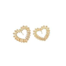 Pipol´s Bazaar Hearts Örhänge - Guld