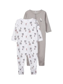 Name it Baby 2-Pack  Pyjamas med Fötter