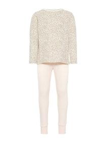 Name it Mini Leopardmönstrad Pyjamas i Ekologisk Bomull - Rosa