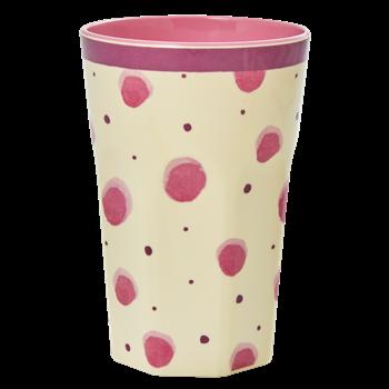 Rice 2-Pack Lattemuggar Med Watercolor Splash/Flower Collage Print