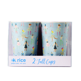 Rice 2-Pack Lattemuggar Med Dance Print