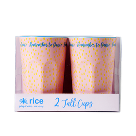 Rice 2-Pack Lattemuggar Med Big Raindot Print