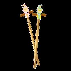 Rice Guldpenna med Papegojesuddigum - 2 Färger
