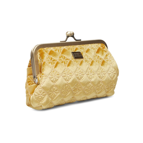 Så fin necessär i en mjuk och lyxig broderad sammet från Pipol´s Bazaar med med  en vacker metallram med knäppning, foder i mjuk satäng med en öppen ficka. Snygg att matcha med  necessären i storleken