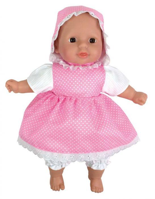Söt docka vid namn Mimmi från Jabadabado med tillhörande kläder som går att ta av och på. Mimmi är tillverkad i vinyl.  Alla dockor från Jabadabado är Ftalatfria. Storlek: 31 cm. Från 1 år