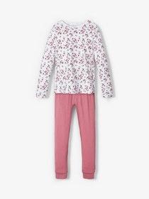 Name it Blommig 2-Delad Pyjamas i Ekologisk Bomull