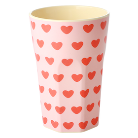 Rice Lattemugg i Melamin Sweet Hearts Print