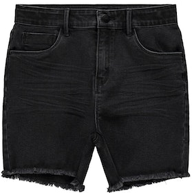 LMTD Highwaist Jeansshorts Svart Denim