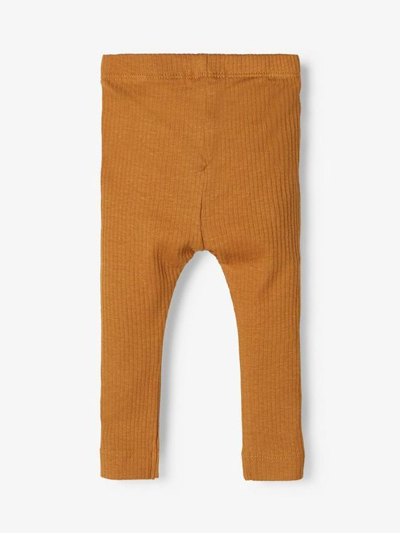 Name it Baby Ribbade Leggings i Ekologisk Bomull Brun