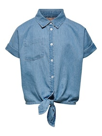 KIDS ONLY Kort Denimblus Med Knyt