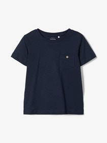 Name it Kids Enfärgad T-shirt Marinblå